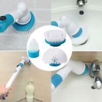 360 Electric Cleaning Brush Head Turbo Scrub Handheld 3 Heads For Housekeeping