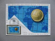 SWITZERLAND, maximumcard maxi card 1954, WC soccer football, opening match