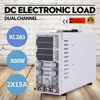 110V Dual Channel DC Electronic Load Adjustable CC/CV KL283 2 CH UPDATED GOOD
