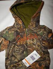Cabelas Infant Jacket 0 3 M Camo Hooded Sweatshirt Top Infant Green Brown Gift
