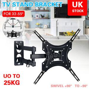 TV Wall Bracket Mount Tilt & Swivel for 32 38 40 42 46 50 52 55 Inch Monitor LCD