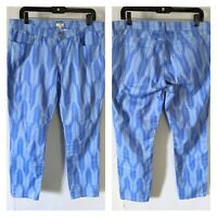 NEW J.Crew Factory Women's Size 32 Blue Southwestern Print Pants NWT