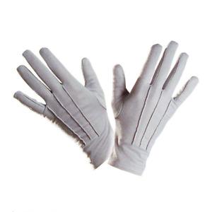 Gloves Short Grey Gentleman Fancy Dress Halloween Gothic