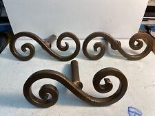 3 Vintage S Shaped Design Cast Iron Door Handlea 7 1/2�