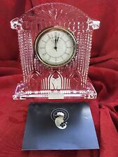 NEW FLAWLESS Exquisite WATERFORD Ireland WESTMINSTER Crystal CLOCK Sculpture