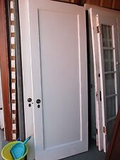 Antique Vintage 1 Panel Interior Door Approx 30 x 78 Painted We Ship!
