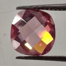 Cushion Rose Cut Loose Moissanite 4 Ring/Pendant 1.67 Ct 8.18 x7.96 mm Vvs1 Pink