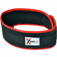 Weight Lifting Belt Neoprene Gym Fitness Back Support Exercise Belt - Black Red