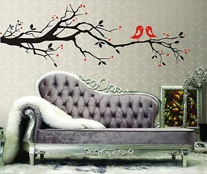 Love Tree Branch Birds Removable Wall Decal Vinyl Stickers Art Decor Home Mural