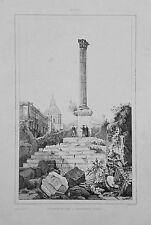 1834.Stampa/Acciaio=COLONNA PER L'IMPERATORE.PHOCAS=ROMA.Italie Pittoresque.ETNA