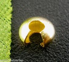 20 cache perles à écraser dorées 4 mm sans nickel