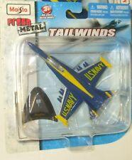 "2010 MAISTO TAILWINDS NAVY FA-18C HORNET ""BLUE ANGELS"" 6+ Diecast"