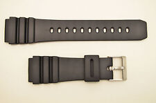 22mm Fits CASIO Black PVC Watch BAND Strap AMW-320D AD-520 MD705 AMW330 MD703