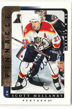 1996-97 BE A PLAYER AUTO SCOTT MELLANBY AUTOGRAPH BAP 171 PANTHERS