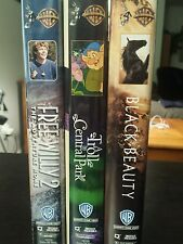 3Warner Brothers  VHS  Black Beauty, A Troll in Central Park, Free Willy 2