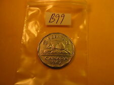 RARE KEYDATE 1947 DOT VARIETY CANADA 5 CENT COIN ID#B99
