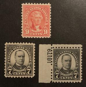 TDStamps: US Stamps Scott#588 (2) 590 Mint NH OG