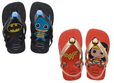 SUPER HERO BABY HAVAIANAS. BATMAN/WONDER WOMAN FLIP FLOPS