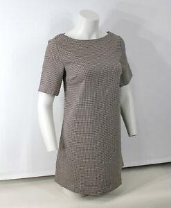 NWT Avenue Ladies Houndstooth Women's Dogtooth Print Shift Dress tartan check 10