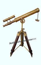 Vintage Maritime Brass Antique Finish Halloween Nautical Navy Telescope W Tripod
