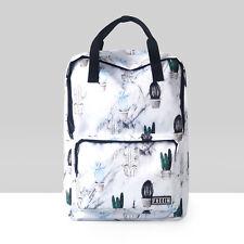 Cactus printing Harajuku Unisex Trendy Backpack Casual Japanese Shoulder Bag