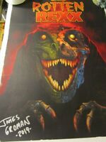 ROTTEN REXX SIGNED AUTOGRAPHED By JAMES GROMAN POSTER~
