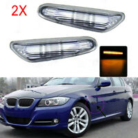 For new BMW E90 E91 E92 E93 X1 SIDE MARKER BLINKER REPEATER INDICATOR LIGHT Smok