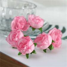 50pcs Silk Roses Artificial Fake Flower Heads Wedding Bouquet DIY Party Decor
