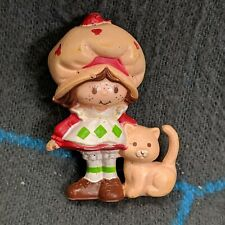 "Miniature 2"" Strawberry Shortcake w/ Cat Custard PVC Figure"