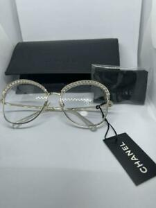 Auth CHANEL CC Pearl Metal Frame Clear Sunglasses CH4246H Women New from Japan