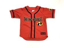 NWOT The Incredibles Disney Pixar Baseball Jersey Button Up Kids Size M 7/8