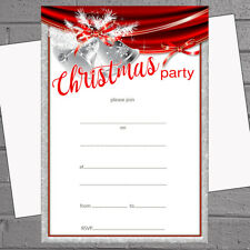 Christmas Party Invitations X 20 A5 With Envelopes - Silver Bells H1839
