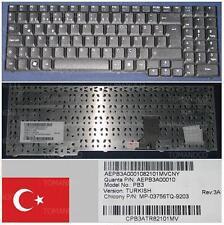 TECLADO QWERTY TURCO PB EasyNote SB85 PB3 AEPB3A00010 MP-03756TQ-9203 Negro