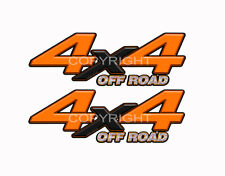 4X4 OFFROAD Orange Black Decals Truck Graphic Laminated Stickers 2pack KM097ORBX