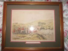 Vintage H K Browne Print 'Running The Rail' Hunting Cartoon/Caricature Picture