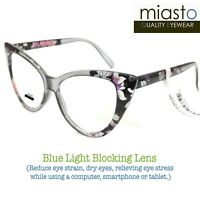 "MIASTO ""BIG CAT EYE"" COMPUTER READER READING GLASSES +2.00 (BLUE LIGHT BLOCKING)"