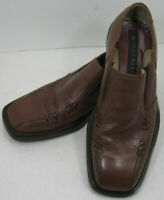 Skechers Collection Italy Brown Leather Slip On Loafers Shoes Mens Size 10 M.