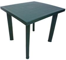 SF SAVINO FILIPPO Tavolo Tavolino Quadrato in Resina di Plastica - Verde