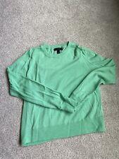 J.Crew Women's MERINO WOOL Sweater- vibrant green/blue- size s