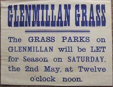 Glenmillan House Aberdeenshire. Grass Parks Renting Poster. c1900.