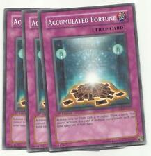 YUGIOH 3X Accumulated Fortune CDIP-EN057 1ST COMMON PLAYSET NEW*