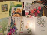 #29 Lot Of 1970s 1980s Vintage Flower Floral Greeting Cards Ephemera Junk