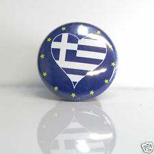 2 Badges Europe [25mm] PIN BACK BUTTON EPINGLE Grèce