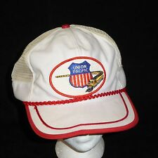 Vintage Trucker Hat UNION PACIFIC Train Crest Logo Hat Adjustable Baseball Cap
