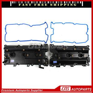 Fit 02-04 Infiniti QX4 Nissan Pathfinder 132645W501 Engine Valve Cover Set LH RH