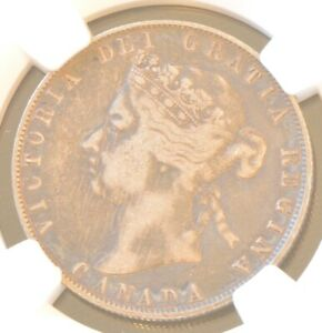 1901 Canada Victoria 50 Cent Silver Coin NGC VF Details