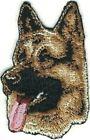 "1 1/4"" x 2 1/8"" German Shepherd Dog Breed Portrait Embroidery Patch"