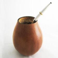 ARGENTINA MATE GOURD YERBA TEA WITH STRAW BOMBILLA KIT HEALTHY DIET DRINK 3357 !