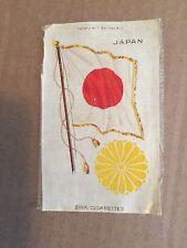 "ZIRA TOBACCO SILK  JAPAN COAT OF ARMS & FLAG  4-3/4"" X 3"""