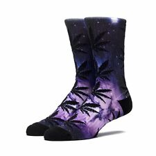 HUF Plantlife Weed Galaxy Print Men's Socks - Purple